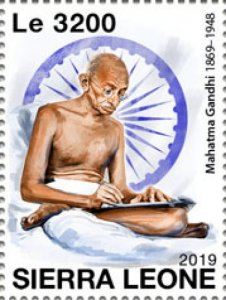 Stamps SIERRA LEONE  / 2019.Mahatma Gandhi