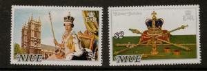 NIUE SG213/4 1977 SILVER JUBILEE MNH