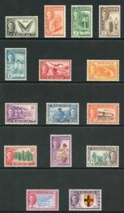 Sarawak SG171/85 1950 set of 15 Fresh M/Mint