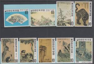 Korea 715 - 723 Mint Hinged OG - No Faults Very Fine