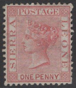 SIERRA LEONE SG7 1872 1d ROSE-RED MTD MINT