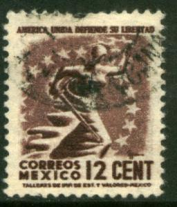 MEXICO 845 12c 1934 Definitive Wmk Gobierno...279 Used (927)