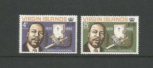 British Virgin Islands,1968 Martin Luther King Commemoration UMM Set SG 226/7