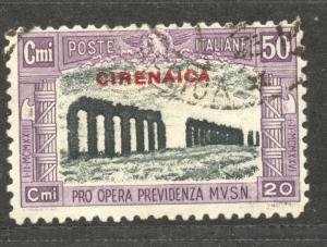 Cirenaica 1929 semi-postal, 50 C. VF ++ used, Scott # B 22