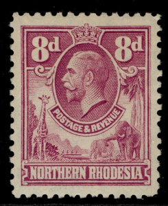 NORTHERN RHODESIA GV SG8, 8d rose-purple, M MINT.