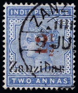 Zanzibar Scott 31D Gibbons 27D Used Stamp