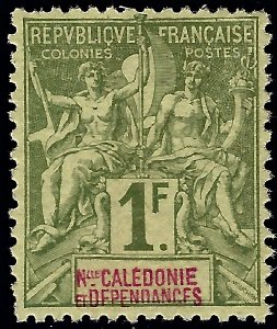 New Caledonia #58 Mint VF SCV$45...French Colonies are Hot!