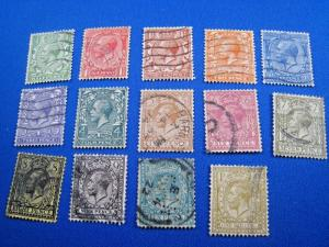 GREAT BRITAIN  -  SCOTT # 159-172  - Complete set  -  Used      (brig)