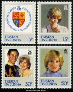 Tristan da Cunha Scott 310-313 Mint never hinged.