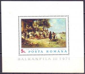 Romania. 1971. bl84. Painting. MNH.