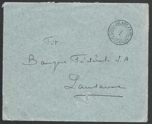SWITZERLAND 1914 Military cover to Lausanne - Battaillon 4.................58385