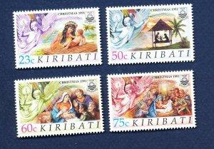 KIRIBATI - Scott 578-581 - FVF MNH - Christmas - 1991