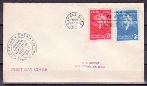 Cuba, Scott cat. 441- 442. General E. Collazo issue. First day cover. ^
