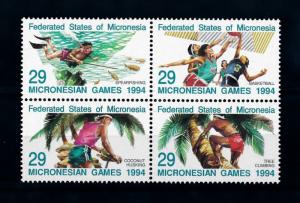 [72246] Micronesia 1994 Sport Fishing Basketball Tree Climbing  MNH