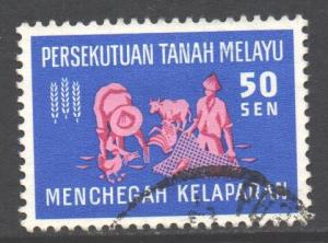 Malaya Scott 113 - SG34, 1963 Freedom from Hunger 50c FFH used