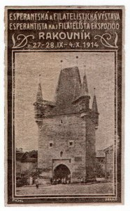 (I.B) Czech Cinderella : Philatelic & Esperanto Exhibition (Rakovnik 1914)