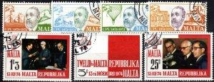 Malta #484-90 F-VF  Used CV $3.55 (X5697)