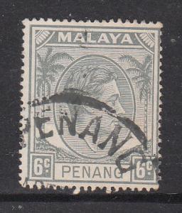Malaya Penang 1949 Sc 8 6c Used