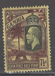 COLLECTION LOT # 3045 GAMBIA #111 WMK 4 MH 1927 CV=$24