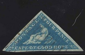 Cape of Good Hope 1853 SC 2 Used SCV $170.00