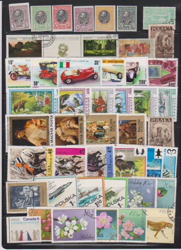 LOT OF DIFFERENT STAMPS OF THE WORLD USED (47) LOT#111