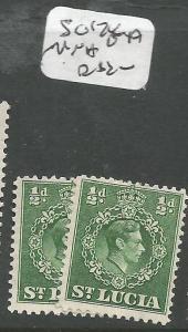St Lucia SG 128-128a MNH (6eag)