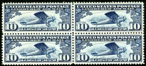 US Stamps # C10 MNH XF Block of 4