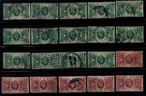 Great Britain Scott 226,228 Used (Lot Of Twenty) F-VF