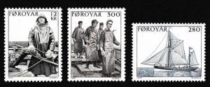Faroe Is. Fishing Industry 3v SG#100-102 SC#112-114