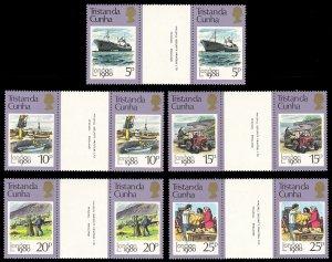 Tristan da Cunha 1980 Scott #272-276 Gutter Pairs Mint Never Hinged