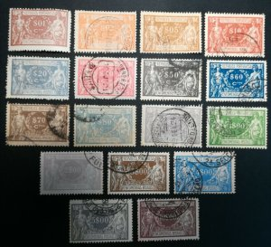 D - Portugal 1920/22 Encomendas Postais Complet Set Used perfect #1/17