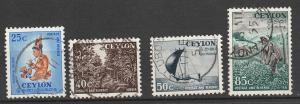 Ceylon Used lot of 4