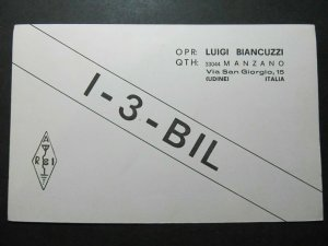 5293 Amateur Radio QSL Card Udine Italy