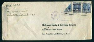 1942 Bisect - Guatemala to Los Angeles, California USA - Censored