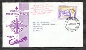 d49 - BERMUDA 1965 FDC Cover. Sent to Canada