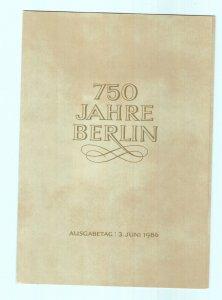 750 JAHRE BERLIN, 750 YEARS OF BERLIN BOOKLET 1987