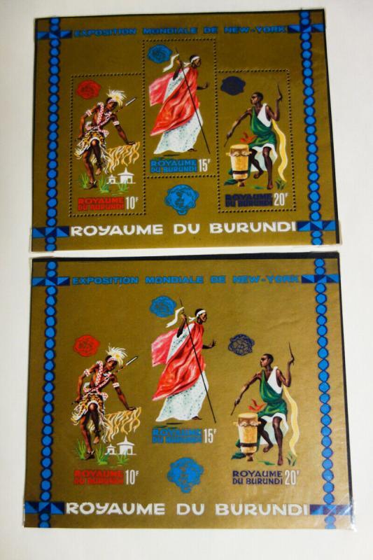 Burundi Stamps Early Mint 1960's-70's Loaded Gem in Album