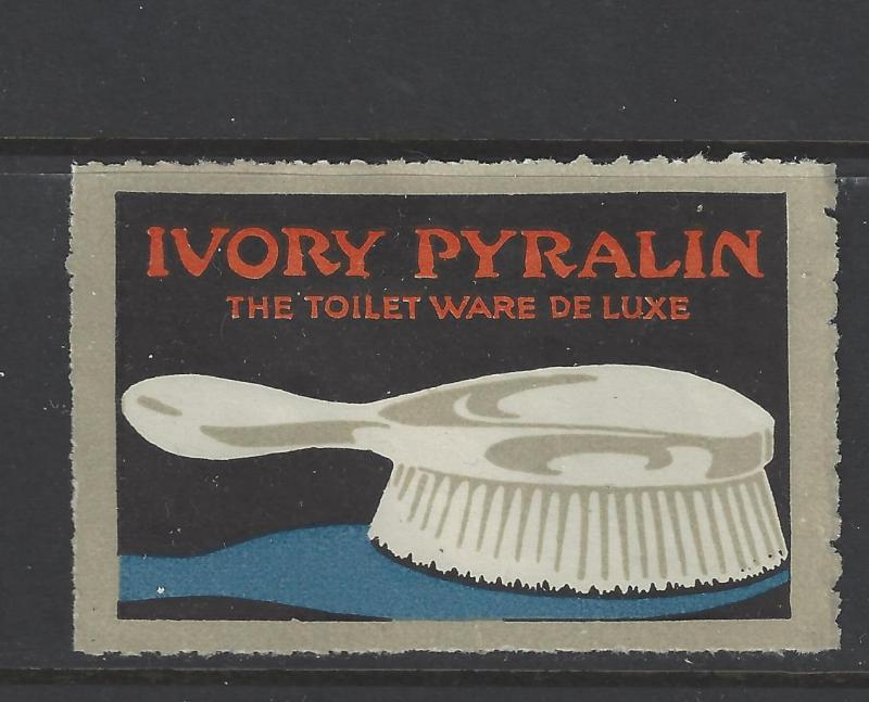 Est Early 1900s Ivory Pyralin Toilet Ware DeLuxe Promotional Poster Stamp (AW49)