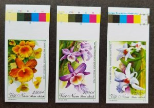*FREE SHIP Vietnam Orchids 2013 Flowers Flora Plant (stamp color) MNH *imperf