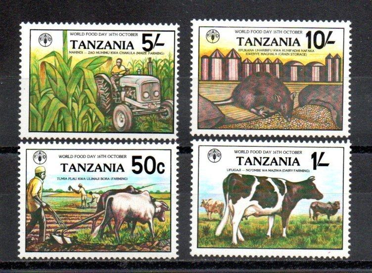 Tanzania MNH 209-12 World Food Day SCV 3.15