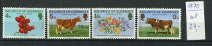 265431 GUERNSEY 1970 year MNH stamps set COWS FLOWERS