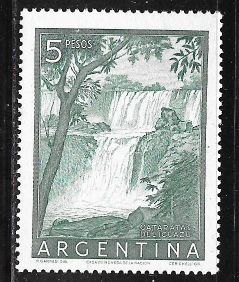 Argentina 639: 5p Iguazú Falls, MLH, VF