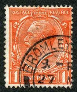 1d Orange Vermillion Spec N16/15 (Corner Bend) Fine Used CDS