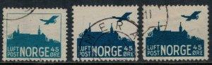 Norway #C1-3  CV $5.95