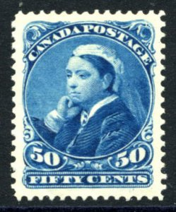 CANADA: Sc.#47  **  50¢ Blue, OUTSTANDING example of this difficult stamp, P...