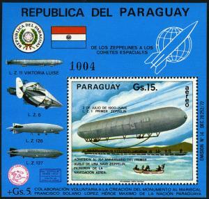 Paraguay C418 S/S, Mnh. Zeppelin, Barche, 1975