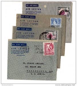 Kenya Uganda and Tanganyika QEII and KGVI Airmail Covers x 4 X1314