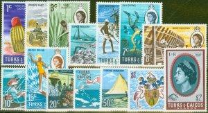 Turks & Caicos Is 1971 set of 14 SG333-346 V.F MNH