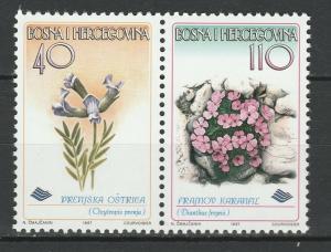 Bosnia and Herzegovina 1997 Flowers 2 MNH stamps