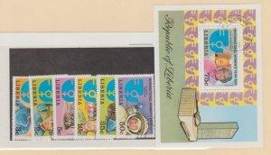 Liberia Scott #697-702//C206 Stamp - Used Set